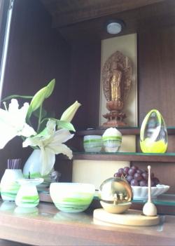 お客様からのお写真 オーダー仏具 かわいい仏具 かわいいお位牌 こども仏壇