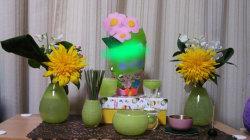 かわいい仏具 かっこいい仏具 緑の仏具 こども仏壇