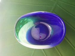 かわいい仏具 香炉 横置き 横長 楕円 仏具小物 通販 ガラス仏具