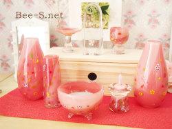 ピンク仏具 かわいい仏具 こどもの仏具 赤ちゃんの仏具 供養 水子供養 グリーフ ガラスの仏具 子どもの仏壇 仏具セット