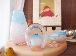 サーモンピンク仏具 かわいい仏具 こどもの仏具 赤ちゃんの仏具 供養 水子供養 グリーフ 胎児の仏具 ガラスの仏具 子どもの仏壇