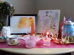 ピンク仏具 かわいい仏具 こどもの仏具 赤ちゃんの仏具 供養 水子供養 グリーフ 胎児の仏具 ガラスの仏具 子どもの仏壇