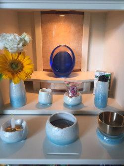 かっこいい仏具 子供の仏具 赤ちゃんの仏具 ブルーの仏具 こども仏壇