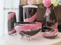 仏具セット 仏花 赤ちゃん こども仏具 供養 小物 水子供養 ピンクの仏具 仏具小物 ガラス位牌 ガラス骨壺