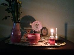 かわいい仏具セット 犬の仏具 ピンクの仏具 こども仏壇