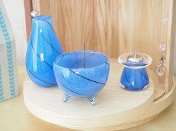 かわいい仏具 ガラス仏具 通販 仏具 小物 かっこいい仏具 ブルーの仏具 子供の仏具 赤ちゃん 死産 三具足